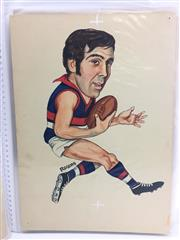 Sale 8863S - Lot 9 - David Thorpe, Footscray. Captain of Footscray in 1973, played 151 games for them 1965 to 1973. He then played 27 games for Richmond,...