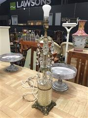 Sale 8889 - Lot 1384A - Glass Table Lamp