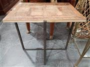 Sale 8904 - Lot 1021 - Modern Timber Top Side Table (H: 45 L: 60 W: 60cm)