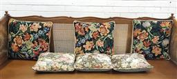Sale 9097 - Lot 1048 - Six Tapestry Cushions, with two different floral designs