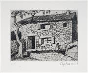 Sale 8976A - Lot 5025 - Lloyd Rees (1895 - 1988) - Farm House, Majorca, 1976 10 x 13 cm