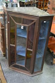 Sale 8039 - Lot 1062 - Georgian Style Hanging Corner Cabinet, with single astragal door with coloured glass