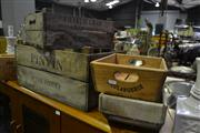 Sale 8134 - Lot 1064 - Collection Of Reproduction Timber Crates