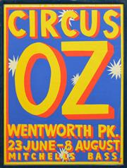 Sale 8256S - Lot 6 - Martin Sharp (1942 - 2013) - Circus Oz, Wentworth Park 101.5 x 75.5cm