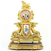 Sale 8342 - Lot 62 - Japy Freres Late 19th Century French Gilt Clock by Phillipe Mourey