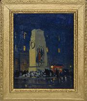 Sale 8363 - Lot 561 - Frederick Leist (1878 - 1945) - Untitled, 1922 (Laying of Wreaths) 39 x 30cm