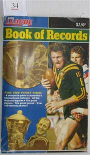 Sale 8418S - Lot 34 - RUGBY LEAGUE WEEK BOOK OF RECORDS by David Middleton in 1983. His first book on the statistics of the game.