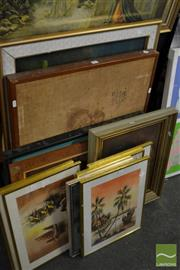 Sale 8464 - Lot 2067 - Group of (12) Original Artworks by Various Chinese and South East Asian Artists (framed/various sizes)