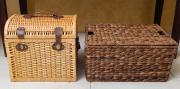 Sale 8677B - Lot 513 - A Dome topped modern picnic hamper together with one other