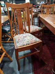 Sale 8676 - Lot 1035 - Set of Six Timber Dining Chairs