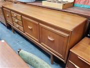 Sale 8822 - Lot 1047 - Quality 1960s Teak Sideboard with 3 Doors and Drawers