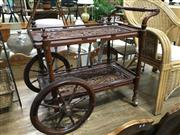 Sale 8851 - Lot 1079 - Ornate Inlayed Drinks Trolley