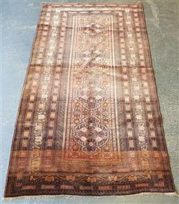 Sale 9174 - Lot 1142 - Hand knotted pure wool semi antique rustic Persian turkoman (200 x 110cm)