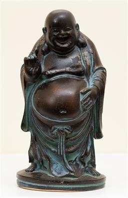 Sale 9190W - Lot 39 - A small composite happy buddha. Height 14cm