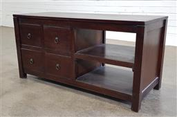 Sale 9188 - Lot 1376 - Timber entertainment unit with 4 drawers