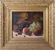 Sale 8224A - Lot 95 - C19th British School - Still Life - Fruits size of artwork 30 x 27 cm