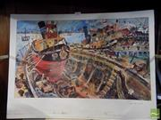 Sale 8407T - Lot 2077 - John Perceval (1923 - 2000) - Tug Boat in a Boat 36 x 59.5cm