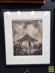 Sale 8478 - Lot 2016 - Framed Plate Hardy Wilson Gate Lodge at Winbourne, Mulgoa N.S.W.