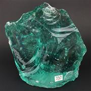 Sale 8567 - Lot 757 - Large Piece of Green Glass
