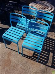 Sale 8566 - Lot 1432 - Set of Four Painted Outdoor Chairs