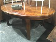 Sale 8740 - Lot 1401 - Timber Oval Top Dining Table