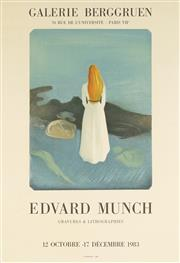 Sale 8794A - Lot 5093 - After Edvard Munch (1863 - 1944) - Galerie Berggruen: Edvard Munch - Engravings & Lithographs, 1983 62.5 x 42.5cm