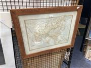 Sale 8895 - Lot 2043 - Antique Print of a Map of Asia, 44 x 55.5 cm