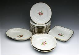 Sale 9093P - Lot 86 - Early C19th Spode Rose Dessert Service
