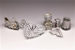 Sale 9110 - Lot 362 - Small collection of crystal desk wares