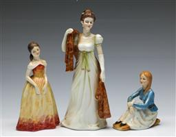 Sale 9164 - Lot 514 - Three early painted Staffordshire figures (H:22cm to 11cm)