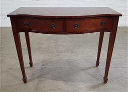 Sale 9188 - Lot 1532 - Serpentine front hall table with 2 drawers (h:76 x w:96 x d:46cm)