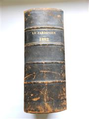 Sale 8256A - Lot 41 - Antique French Book on Botany Gardening. Titled