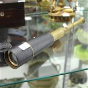 Sale 8300 - Lot 57 - Leather Clad Three Draw Telescope