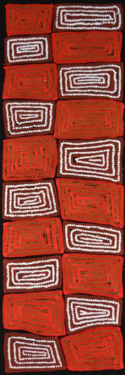 Sale 8316 - Lot 510 - Thomas Tjapaltjarri (c1964 - ) - Tingari 100 x 30cm