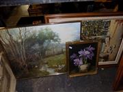 Sale 8422T - Lot 2083 - Group of Framed (3) Embroidery & Prints
