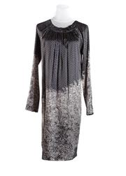 Sale 8493A - Lot 69 - A silk printed Scanlan & Theodore long sleeve dress with ruched collar, AU size 8