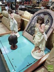 Sale 8532 - Lot 1014 - Pair of Ceramic Lady Figures