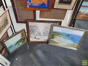 Sale 8548 - Lot 2143 - Group of (3) Original Landscape Paintings by Unknown Artists (framed/various sizes)