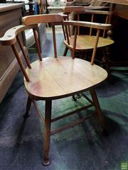 Sale 8562 - Lot 1089 - Pair of Timber Tub Chairs