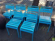 Sale 8566 - Lot 1440 - Set of Six Painted Outdoor Chairs