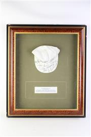 Sale 8827D - Lot 85 - A Framed Signed Tennis Hat of Notable Womens Tennis Players