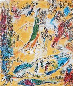 Sale 8985A - Lot 5045 - Marc Chagall (1887 - 1985) - Sorcerer of Music 75 x 56 cm (frame: 104 x 88 x 3 cm)
