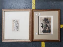 Sale 9127 - Lot 2084 - S.T Gill (two works) Native Sepulchre & Township of Ballarat from Baths Hotel engravings, frame: 43 x 50 cm, 47 x 53 cm, -