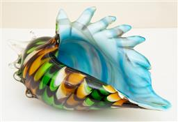 Sale 9190W - Lot 41 - An art glass conch form ornament. Height 29cm