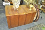 Sale 8272 - Lot 1083 - Large Wood Grain Lift Top Trunk