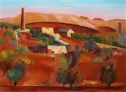 Sale 8526 - Lot 515 - Jeffrey Makin (1943 - ) - Sliding Rock Mine, Flinders Rangers 91 x 121.5cm