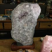 Sale 8567 - Lot 649 - Quartz Geode Slice, polished both sides, 27kg