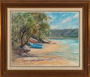 Sale 8818A - Lot 34 - BDora TooveyDRI Dinghys at ShoreDR oil on canvas on boardR 40 x 50cmR SLL