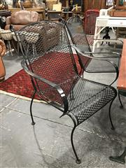 Sale 8889 - Lot 1329 - Set of 4 Metal Outdoor Chairs