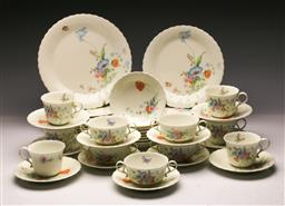 Sale 9119 - Lot 146 - A Mikasa something blue dinner service
